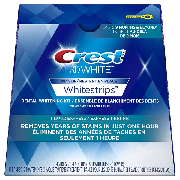 Избелващи ленти Crest 3D White 1 Hour Express No slip