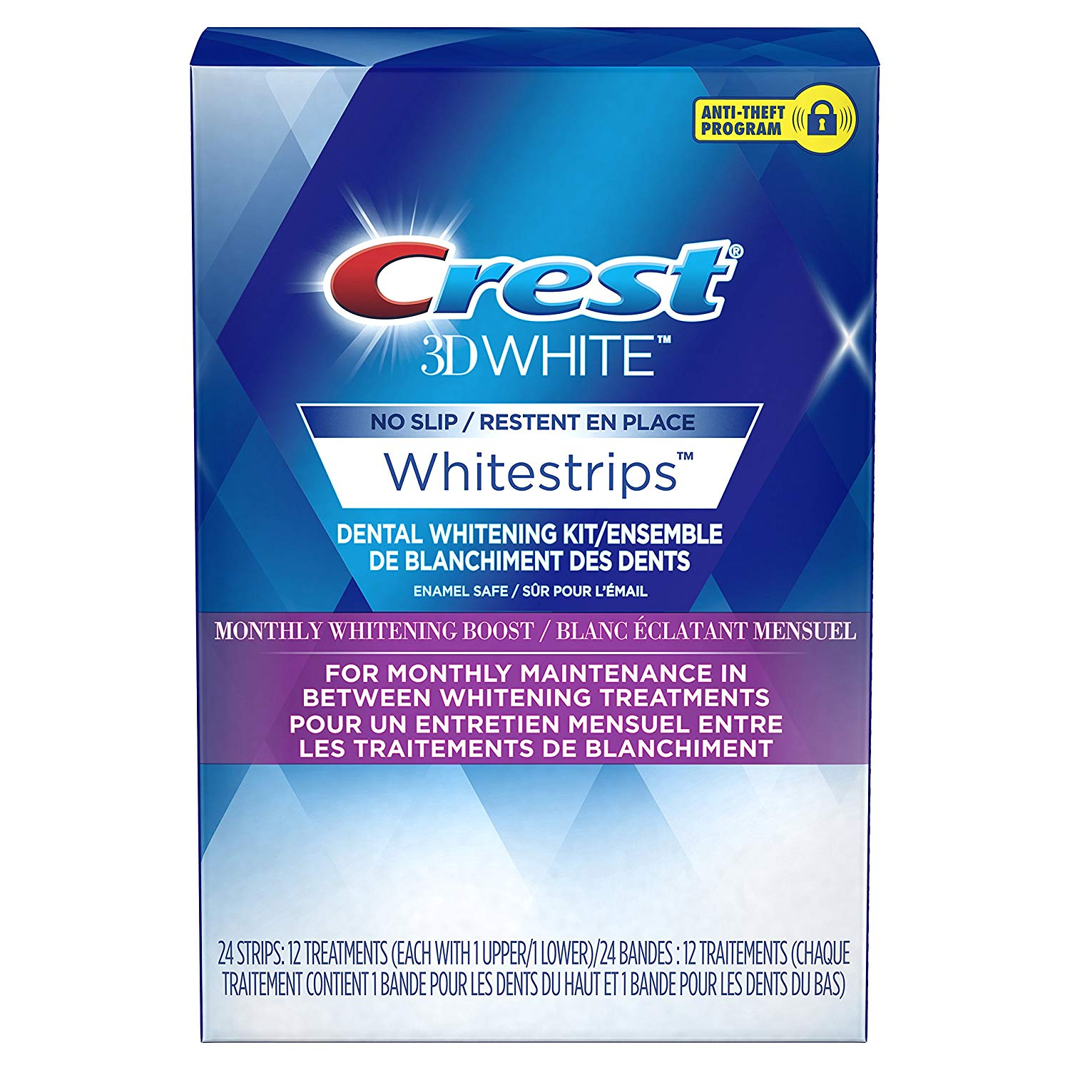 Избелващи ленти Crest 3D White Monthly Boost