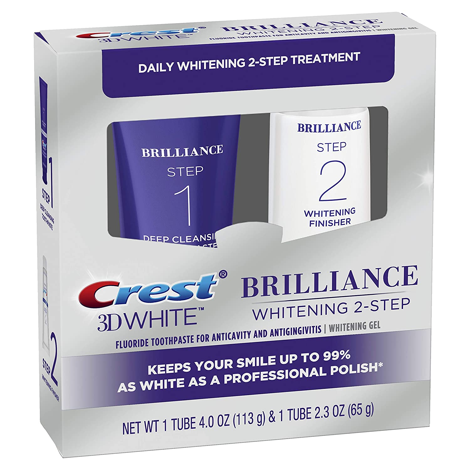 Crest 3D White Brilliance Two-step (10)