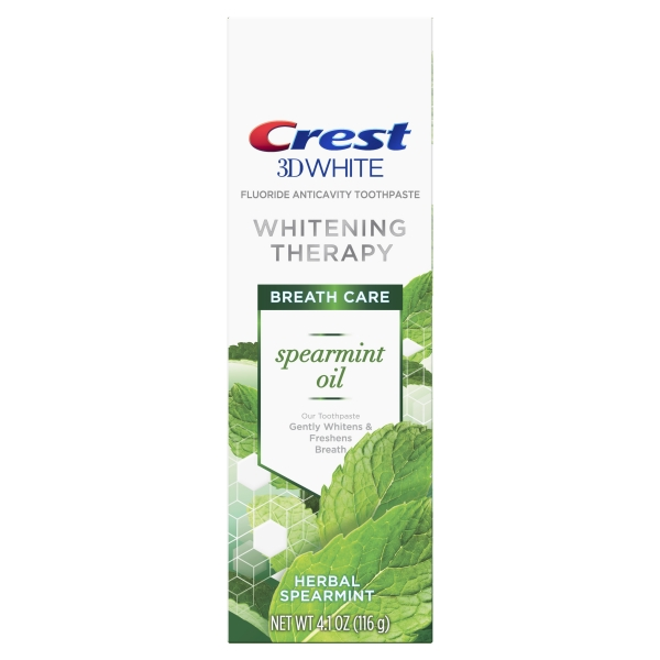 Crest 3D White Whitening Therapy Toothpaste – Spearmint Oil